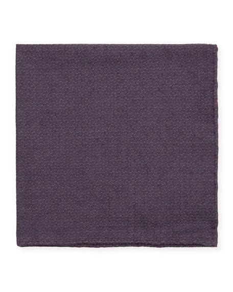 Simonnot Godard Jacquard Woven Pocket Square, Purple