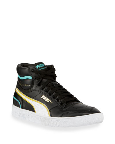 Men's Ralph Sampson Mid Hoops Leather Sneakers