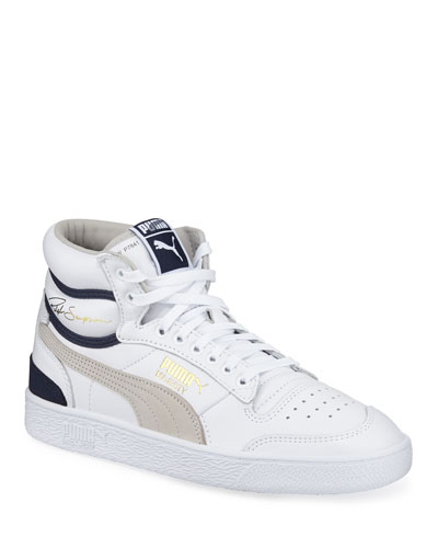 Men's Ralph Sampson Mid OG Leather Sneakers
