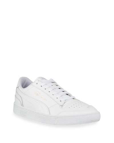 Men's Ralph Sampson Tonal Leather Low-Top Sneakers