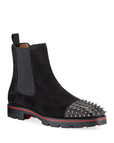Men's Melon Spikes Red Sole Chelsea Boots