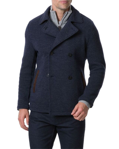Men's Redwood Pass Double-Breasted Peacoat