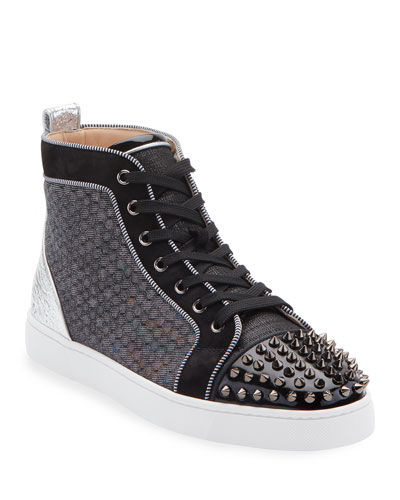 Men's Lou Spikes Orlato Mixed-Media Sneakers