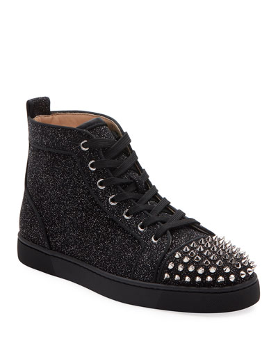 Men's Lou Orlato Metallic Spiked Mid-Top Sneakers