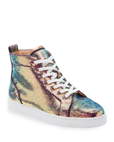 Men's Louis Orlato Sequined Mid-Top Sneakers