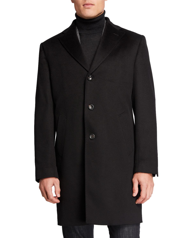 Lubiam Coats MEN'S CASHMERE TOPCOAT