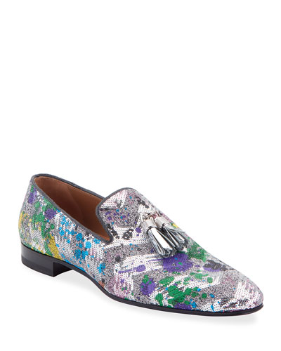 Men's Rivalion Graphic Sequined Tassel Loafers