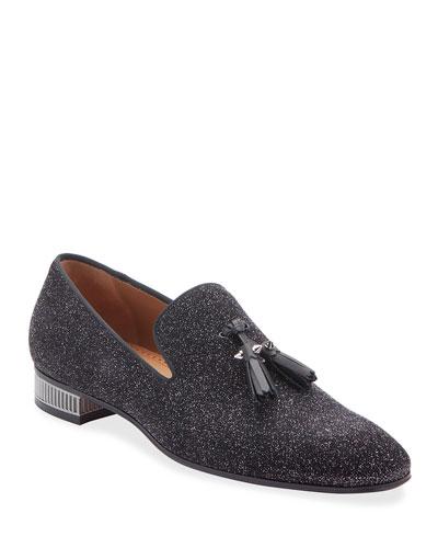 Men's Colonnaki Spiked-Tassel Glitter Loafers