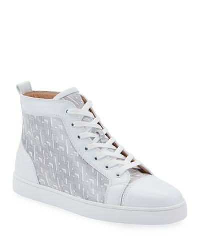 Men's Louis Graphic-Print Mid-Top Sneakers