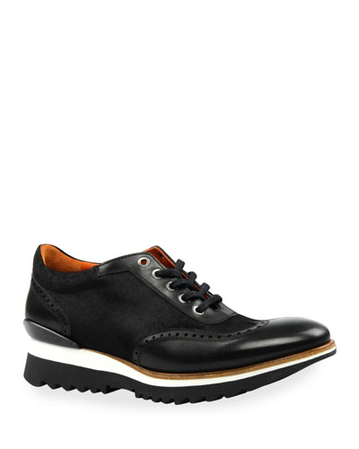 Men's Urban Brogue Calf Hair & Leather Oxford Sneakers