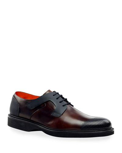 Men's Nova Bold Design Perforated Derby Shoes