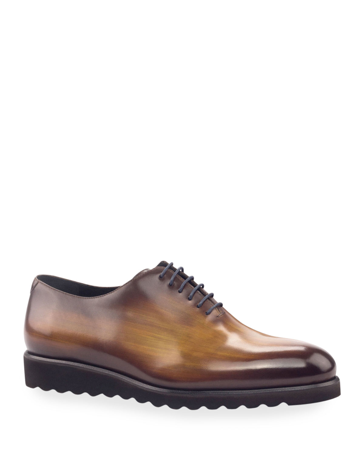 Men's Torino Whole-Cut Patina Leather Oxford Shoes