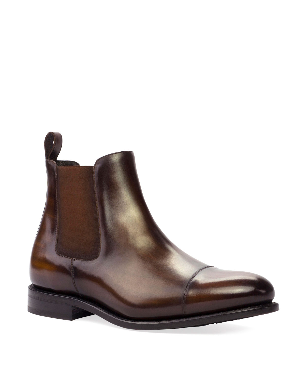 Men's Patina Leather Chelsea Boots
