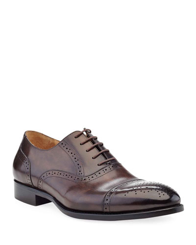 Men's Brogue Leather Oxford Shoes