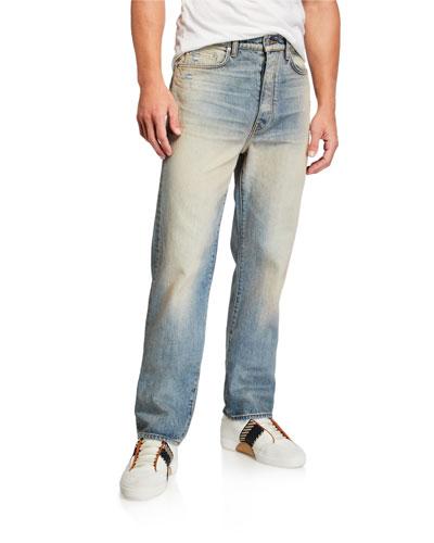 Men's Relaxed Vintage Light-Wash Jeans