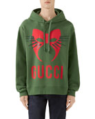 Gucci Men's Capsule Mask Heavy Cotton Hoodie Sweatshirt