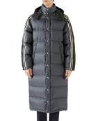 Gucci Men's GG Jacquard Long Puffer Coat