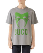 Gucci Men's Capsule Mask Heavy Cotton T-Shirt
