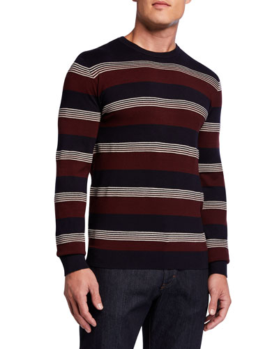 Men's Multi-Stripe Crewneck Sweater