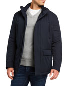 Emporio Armani Men's Front-Pocket Weather-Resistant Jacket