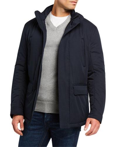Men's Front-Pocket Weather-Resistant Jacket