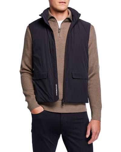 Men's Stretch-Nylon Travel Capsule Vest