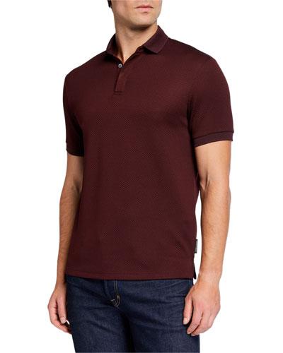 Men's Jacquard Stretch Polo Shirt