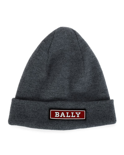Men's Logo-Applique Wool Beanie