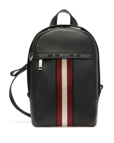 Men's Trainspotting Leather Crossbody Backpack