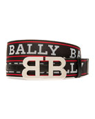 Bally Men's Mirror Double-B Reversible Belt