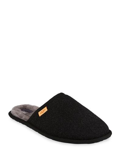 Men's Scuff Wool Mule Slippers