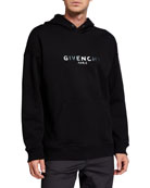 Givenchy Men's Logo Graphic Pullover Hoodie