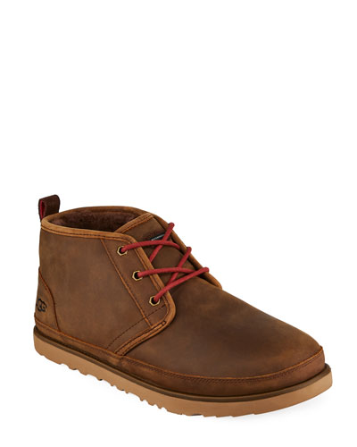Men's Neumel Waterproof Full-Grain Leather Chukka Boots