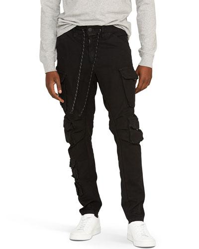 Men's Bowlegged Cargo Pants w/ Drawstring