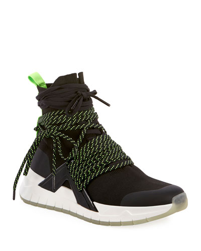 Men's Troop Multi-Lace Knit Sneakers