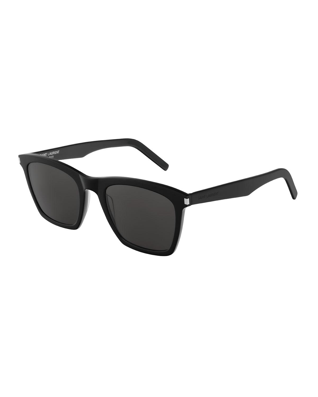 Men's Slim 281 Rectangle Solid Acetate Sunglasses