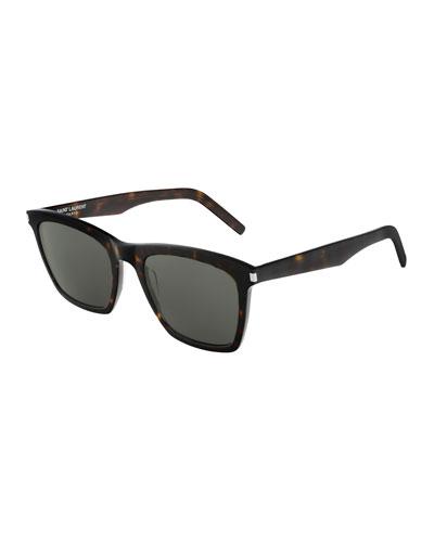 Men's Slim 281 Rectangle Patterned Acetate Sunglasses