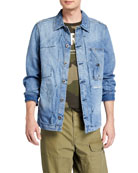 G-Star Men's Scutar Utility Denim Overshirt
