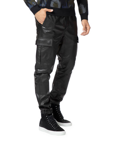 Men's Fenix Lamb Leather Cargo Pants