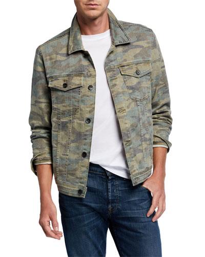 Men's Camo-Print Trucker Jacket