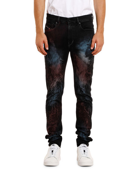 Diesel Men's Amny Painted Straight-Leg Jeans