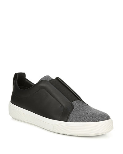 Men's Ranger Leather & Felt Laceless Low-Top Sneakers
