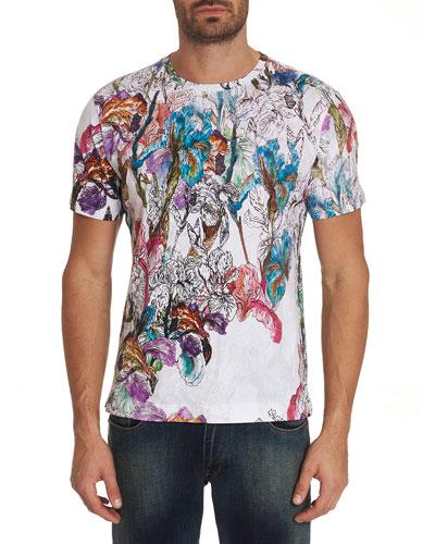 Men's Broken Blossoms Graphic Crewneck T-Shirt
