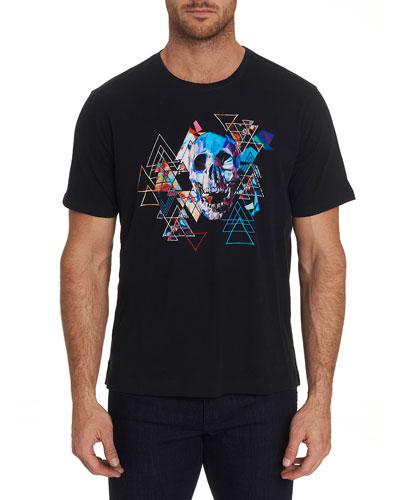 Men's Geo Skull Graphic Crewneck T-Shirt