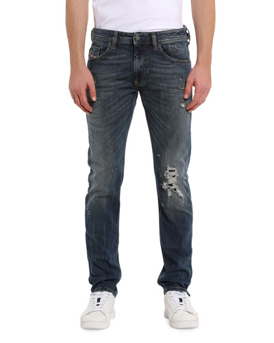 Men's Thommer Distressed Straight-Leg Jeans
