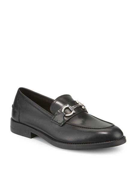 Salvatore Ferragamo Men's Arlin Leather Slip-On Bit Loafers