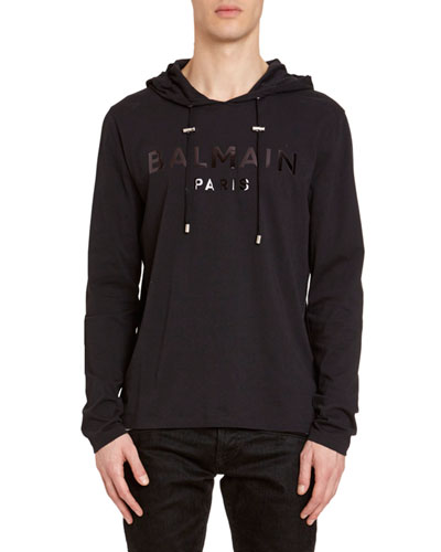 Men's Tonal Logo Hooded T-Shirt