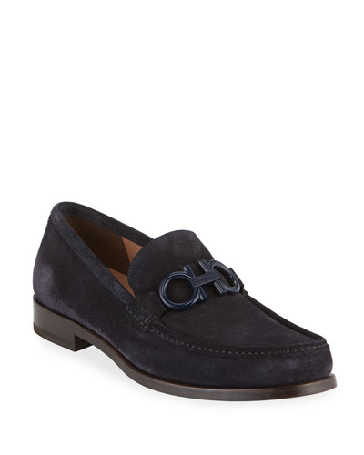 Men's Rolo 6 Suede Gancini Loafers