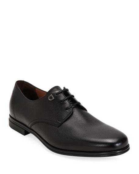 Salvatore Ferragamo Men's Spencer Leather Derby Shoes