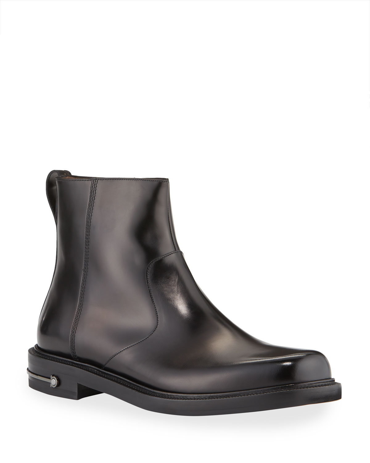 Men's Sefton Gancini Leather Side-Zip Ankle Boots